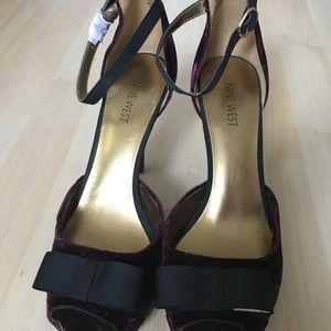 Nine West Platform Bow Heels 8.5 New